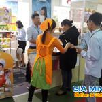 Sampling Mì Hàn Quốc tại hội chợ Vietfood & Beverage – Propack năm 2016