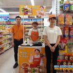 Sampling mì Koreno hàn quốc tại siêu thị Fivimart Trương Định